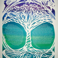 Tree of Life Ketubah  RESERVED for Alexandra by jerise on Etsy