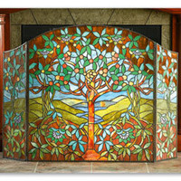 Tree Of Life Fireplace Screen