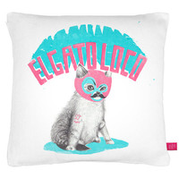Street Market — Ohh Deer - The Crazy Cat Cushion By Jordan Carter