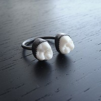 Teeth ring, made with real teeth! 