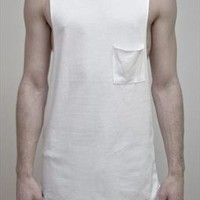 White Muscle Top from Shiik