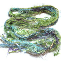 Ribbon Scarf, Green and Blue