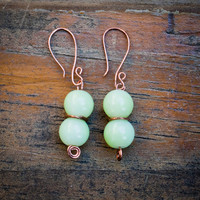 Mint Green Copper Earrings