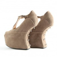 Missguided - Alysea Studded Inward Curve Platform Shoe