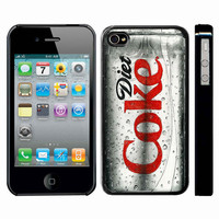Diet Coke Tin Can Pencils Free Hand Sketch Drawing iphone 4 4s case black or white color case