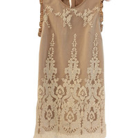 Lace Cuffs Embroidered Tank Dress [NCSKQ0002] - $41.99 :
