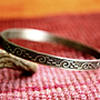 Tribal Bangle in German Silver Ethnic Bracelet by indiaylaluna