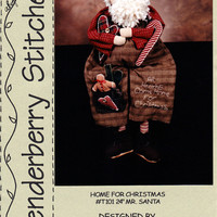 Craft Santa Pattern: Home For Christmas - Tenderberry Stitches