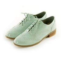 Cambridge Perforated Flat Shoes