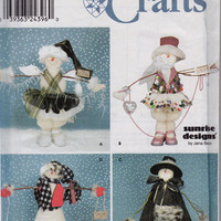 Snow people Craft Pattern - Simplicity Crafts 9442 Sunrise Designs