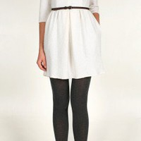 Boiled Wool 3/4 Sleeve Dress | Shop | Tibi