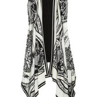 DKNY|Printed silk-blend vest|NET-A-PORTER.COM