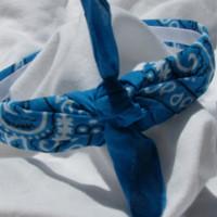 Bandana Knot Headband (TURQUOISE)