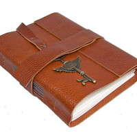 Light Brown Leather Journal with Bookmark