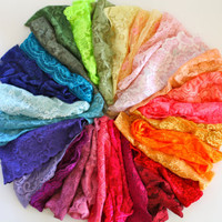"""lace headbands, thick band adult size 5"""" band thick, hairwrap, turband, pick your color- 1 head band"""