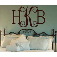 Alphabet Garden Designs Hip Chick Monogram Wall Decal - Mono116 - All Wall Art - Wall Art & Coverings - Decor