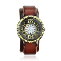 Brown Cow Leather Belt Watch on Luulla