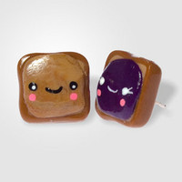 Smiley PB+J Earrings | Komodokat Earrings | fredflare.com