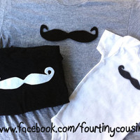 Mustache shirts for Dad Big Brother and Little by fourtinycousins