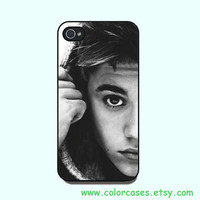 iphone 5 Case,iPhone 4  case --Justin Bieber , in durable black or white plastic or silicone for both iphone 4 and iphone 5