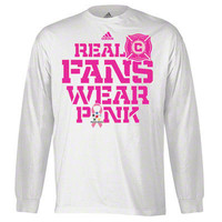 Chicago Fire adidas Breast Cancer Awareness Real Fans Wear Pink Long Sleeve T-Shirt