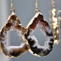 Druzy EarringsGeode Jewelry Druzy Jewelry by MamacitaStudios