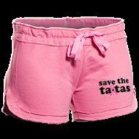 Save the Ta-tas Varsity Shorts in Pink - Save the Ta-tas T-Shirts - Save the Ta-tas Bumper Stickers & Accessories