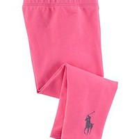 Ralph Lauren Childrenswear Infant Girls' Stretch Leggings - Sizes 9-24 Months | Bloomingdale's