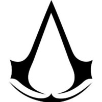 "Assassin's Creed logo - 5.5"" BLACK Sticker Decal - NOTEBOOK, LAPTOP, IPAD, WINDOW, WALL, CAR, TRUCK, MOTORCYCLE"