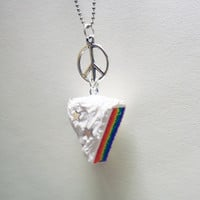 RAINBOW CAKE - peace necklace