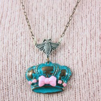 Sweet Queen Bee Necklace by KitschSlapped on Etsy