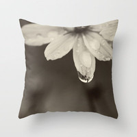 Waterdrop Throw Pillow by Erin Johnson | Society6