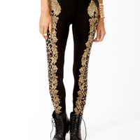 Wild Baroque Print Leggings