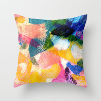 Texture Throw Pillow by Louise Machado | Society6