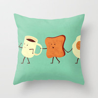 Let's All Go And Have Breakfast Throw Pillow by Teo Zirinis | Society6