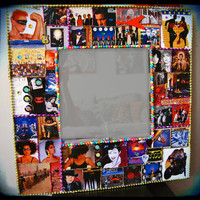 New Wave Music Mirror 1980s decor rock and roll mirrors pretenders b52s devo duran duran prince the cars