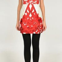 Rococo Print Strapless Dress | Shop | Tibi