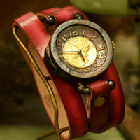 Ooaks bracelet type watch steam punks vintage retro by revolt70