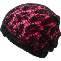 Empyre Girl Noble Crochet Black & Pink Beanie