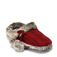 DEARFOAMS (Women) Cableknit Clogs