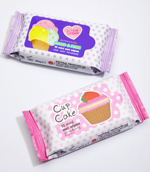 Sweet Treat Scented Handy Wipes | Mini Wipe Packs | fredflare.com