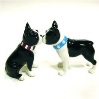 Magnetic Boston Terrier salt and pepper shakers