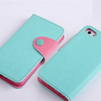 1X wallet case cover protector for iphone 5 CA14