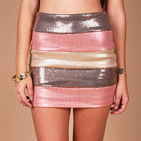 Neopolitan Sequin Mini | Trendy Skirts at Pink Ice