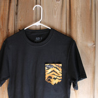 Tiger Print Paige's Pocket Tee