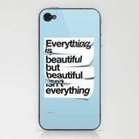 Beautiful Phone Skin by wordboner | Society6