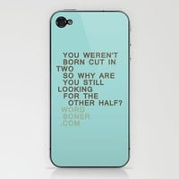 Other Half Phone Skin by wordboner | Society6