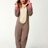 Millie Reindeer Hooded Onesuit