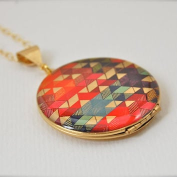 The Color Study II Locket  Vintage  16K Gold by verabel on Etsy