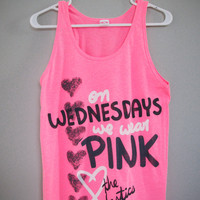On Wednesdays We Wear Pink Tank Top